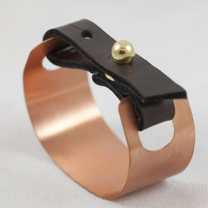 Image of Copper and Leather Cuff Bracelet