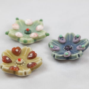 Image of Trio of Tiny 1960's Jewelry Dishes