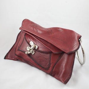 Image of Red Leather Wristlet/Clutch by H(om)e