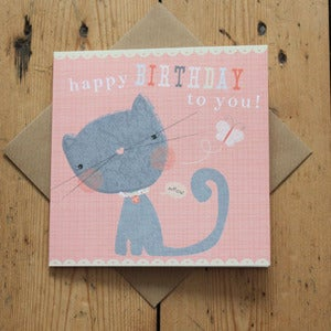 Image of Carnival Kids - Kitty Birthday Card