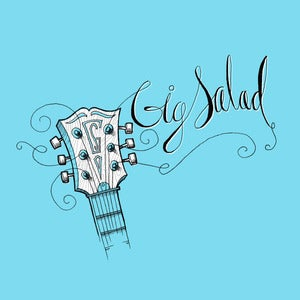 Image of Guitar Strings Tee (Light Blue)
