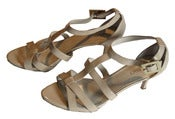 Image of Cage Strap Sandals (Beige)