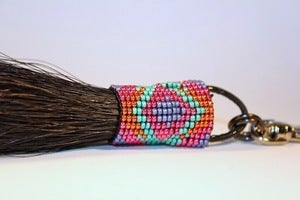 Image of Hand Beaded Horsehair Purse Charm