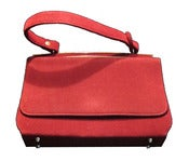 Image of Vintage Red Velvet Kelly Bag