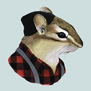 Image of Chipmunk Print 8x10
