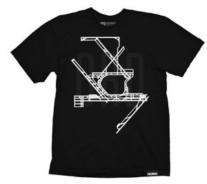 Image of ORD: Chicago O'Hare International Underlay Code T-Shirt