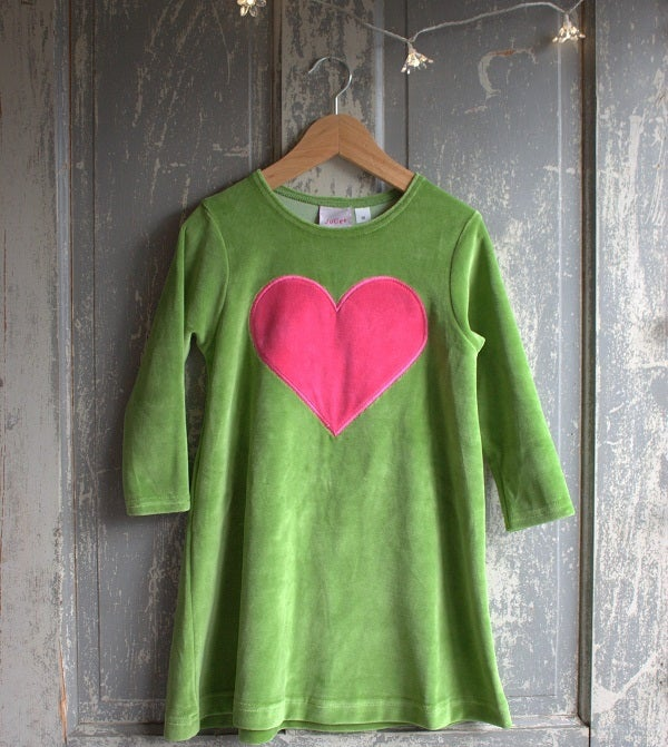 Image of Juliet Velour Dress - Olive Green