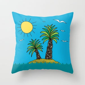Image of Cushion Cover - Desert Island Dreaming