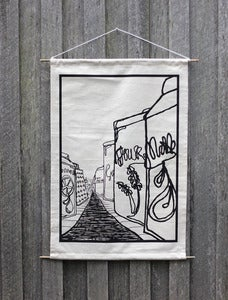 Image of Screen printed hemp/organic cotton wall banner