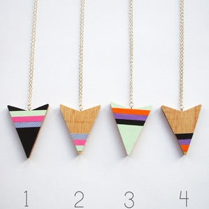 Image of Wooden Tribal Arrow Head Necklace Four designs to choose from