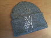 Image of Heather Shred Peace Beanie