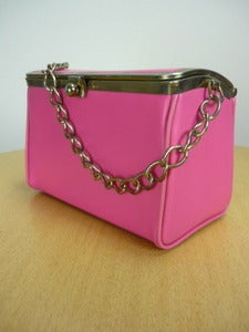 Image of 60s mod pink box handbag