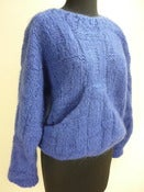 Image of electric blue slouch pocket mohair sweater
