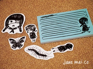 Image of janey &amp; pet centipede-chan set