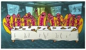 Image of Last Supper Hot Dog Magnet