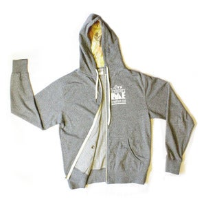 "Image of ""FRESH OUT THE BOX""  Inner Lined Color Penciled styled Hooded French Terry Zip up Sweatshirt"