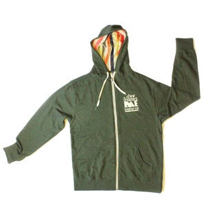 "Image of ""FRESH OUT THE BOX""  Inner Lined Multicolored Styled Hooded French Terry Zip Up"