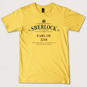 "Image of ""Earl of 221B"" - Canary Yellow tee/tea"