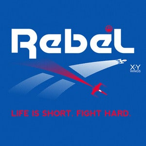 "Image of ""Brand Wars: Rebel"" - Bright Royal Blue tee"