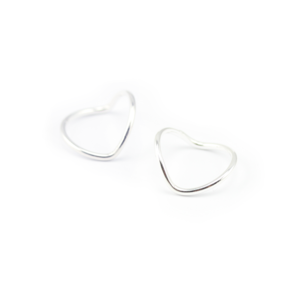 Image of Skye. 2 Sterling Silver Chevron Knuckle Rings