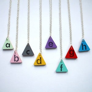 Image of Custom Initial Letter Necklace - Made to Order