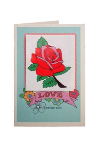 Image of **NEW** Tattoo You Rose Valentine Card
