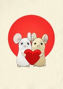 Image of Love Mouse Couple Giclée Print
