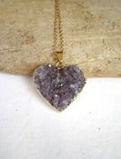 Image of Purple Heart Amethyst Necklace