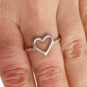 Image of Silver Heart Ring