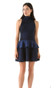 Image of A.L.C. Blue/Blk Daphne Peplum Dress SZ S