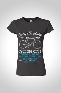Image of Out Of The Saddle - Signature Downing Womens Cycling T-Shirt