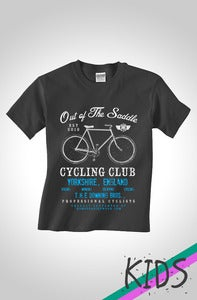 Image of Out Of The Saddle - Signature Downing Kids Cycling T-Shirt