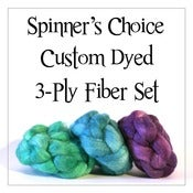 Image of Spinner's Choice Custom Dyed 3-Ply Fiber Sets - 6 oz. Polwarth