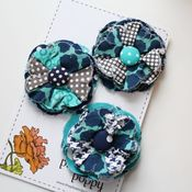Image of set of 3 posy pins - 811