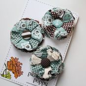 Image of set of 3 posy pins - 812