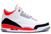 Image of Air Jordan 3 Retro White/Fire Red