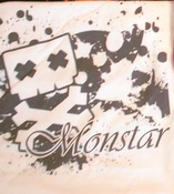 Image of Monstar Clothing Skully Splatter white shirt S/M/L ** $5 shirt sale**