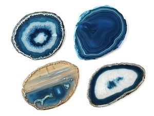 Image of Teal Agate Stone Coasters
