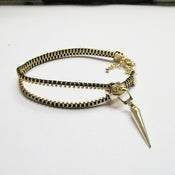 Image of Zipper + Spike Bracelet