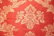 Image of 5.75 Yards of Cranberry Damask