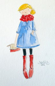 Image of CHAMBRAY TUNIC (2) - ORIGINAL WATERCOLOR