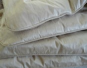 Image of Stunning Pure Silk Dupion Single Eiderdown