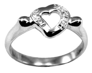 Image of Charmed Heart Ring