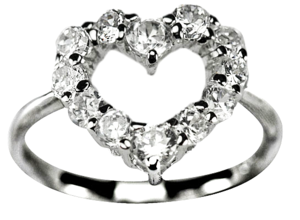 Image of Encrusted Heart Ring