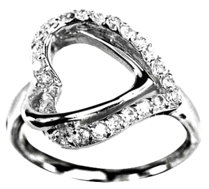 Image of Layered Heart Ring