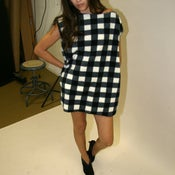 Image of BLACK &amp; WHITE BUFFALO CHECK DRESS