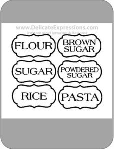 Image of Pantry Jar Labels  {Set of 6}