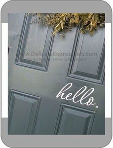"Image of Front Door ""hello."""