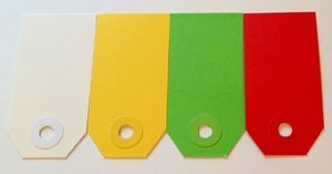 Image of Shipping Tags - Small Colored