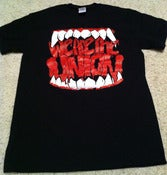 Image of Glaring Teeth Black T-Shirt